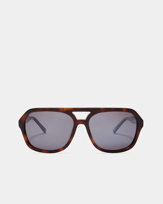 Ted Baker OCTOGN Brown edged sunglasses