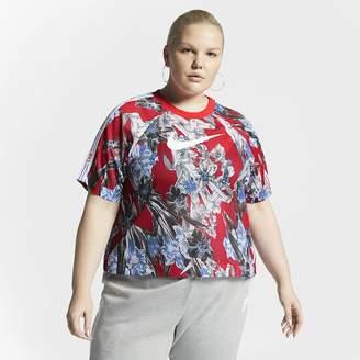 Nike Women's Short-Sleeve Floral Top (Plus Size Sportswear