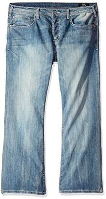 Buffalo David Bitton Men's King Slim Fit Bootcut Jean In Veined and Stoned Faded
