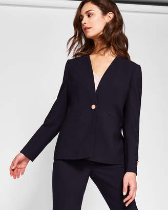Ted Baker CERISA Collarless wool suit jacket
