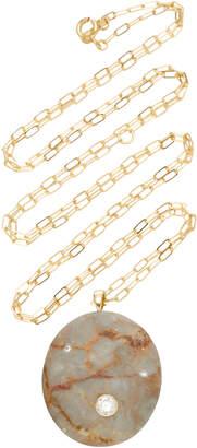 Cvc Stones Afterglow 18K Gold Stone And Diamond Necklace