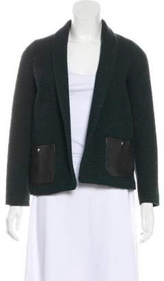 Roseanna Leather-Accented Tweed Blazer