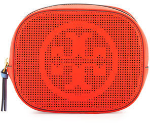 Tory Burch Tory Burch Logo-Perforated Round Cosmetic Bag