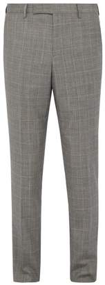 Paul Smith Tattersall Check Wool Trousers - Mens - Grey Multi
