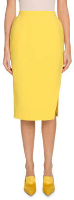 Altuzarra Pencil Crepe Knee-Length Skirt