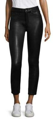 rag & bone/JEAN High-Rise Leather Skinny Pants