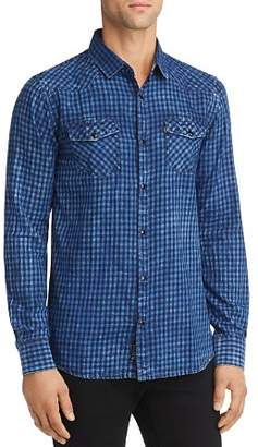 NOIZE Gingham Regular Fit Western Shirt
