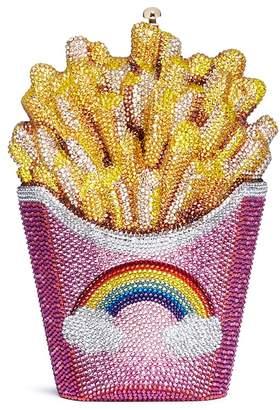 Judith Leiber 'Rainbow French Fries' crystal pavé minaudière