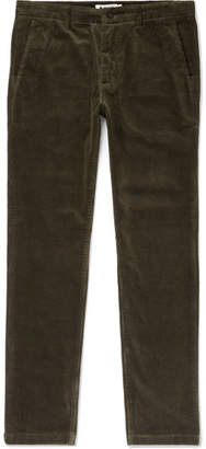 Karl Lagerfeld NN07 Tapered Stretch-Cotton Corduroy Trousers