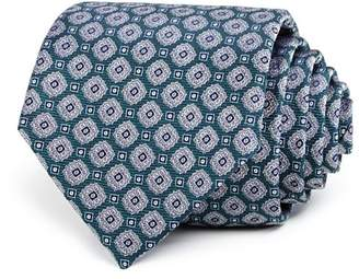 Bloomingdale's The Men's Store at Geometric Medallion Silk Classic Tie - 100% Exclusive