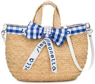 Simonetta straw effect beach bag