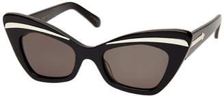 Karen Walker Babou Cat-Eye Sunglasses, Black
