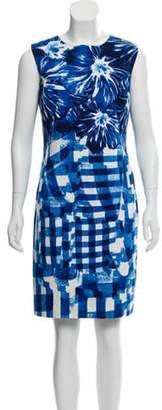 Oscar de la Renta Printed Knee-Length Dress navy Printed Knee-Length Dress