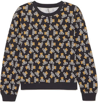 Moschino Printed Cotton-jersey Sweatshirt