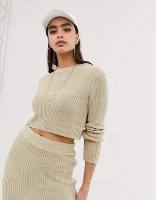 Asos DESIGN two-piece cropped sweater