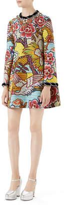 Gucci Landscape-Print Dress
