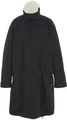 Yves Salomon Paris Lamb Fur-Lined Cotton-Bachette Parka