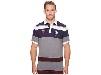 U.S. Polo Assn. Classic Fit Color Block Short Sleeve Pique Polo Shirt Men's Short Sleeve Pullover