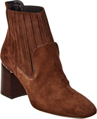 Tod's Structured Heel Suede Ankle Boot