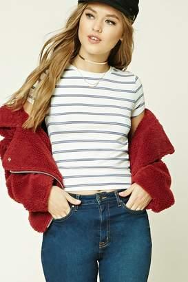 Forever 21 Striped Slub Knit Tee