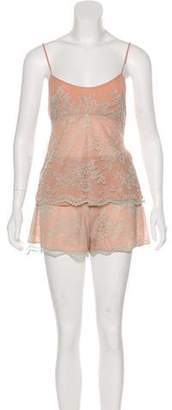 Christian Dior Lace Loungewear Set