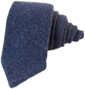 40 Colori - Blue Wool Knitted Fabric Tie