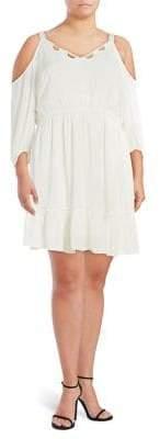Jessica Simpson Plus Elisa Back Cutout Cols Shoulder Dress