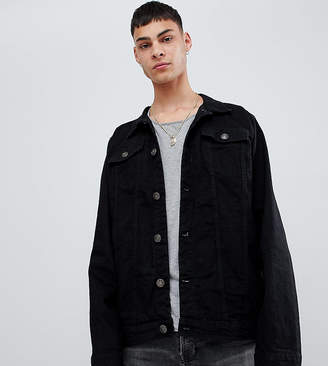 Reclaimed Vintage Inspired Oversized Denim Jacket in Black
