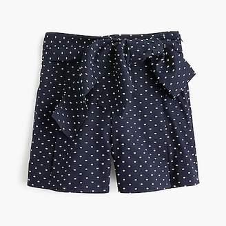 J.Crew Tie-waist short in clip dot