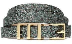 Maje Glittered Leather Belt