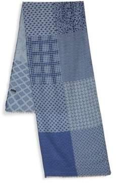 Saks Fifth Avenue Wool-Blend Multi Print Scarf