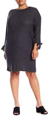 Bobeau Lanna Tie Sleeve Knit Dress (Plus Size)
