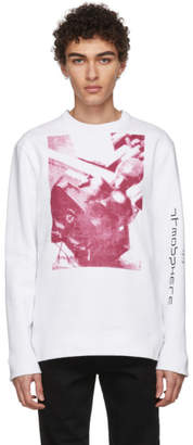 Raf Simons White Joy Division Print Sweatshirt