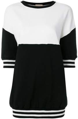 Alice + Olivia Alice+Olivia colour block short sleeve sweatshirt