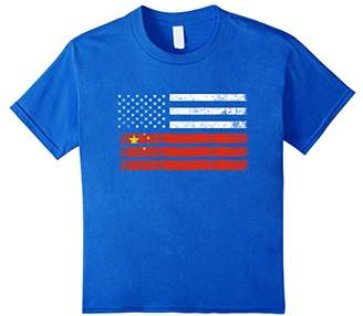 Chinese American Flag - USA China Shirt