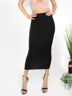 Shein Bodycon Tea Length Skirt