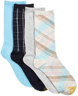 Gold Toe Women's 4-Pk. Madras & Windowpane Plaid Socks