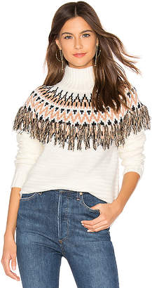 MinkPink Wild And Free Fringe Knit Sweater