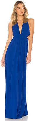 Jill Stuart V Neck Cut Out Gown