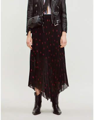 Maje Jengo pleated skirt