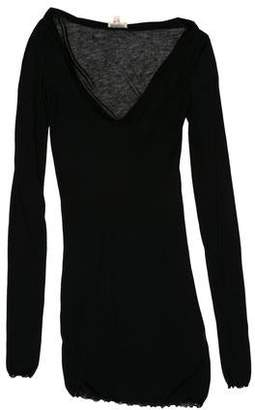Giambattista Valli Transparent V-Neck Dress