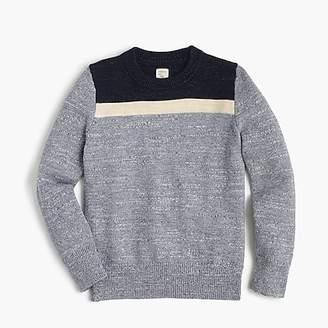 J.Crew Boys' colorblocked cotton crewneck sweater
