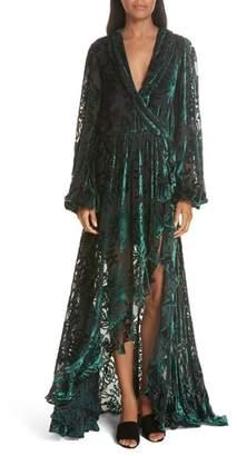 Caroline Constas Olivia Velvet Devore Gown