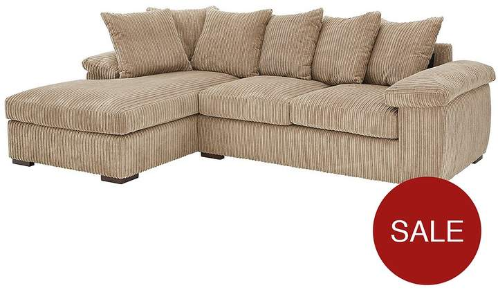 Amalfi 3 Seater Left Hand Scatter Back Fabric Corner Chaise Sofa