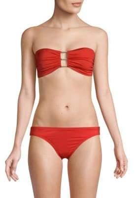 Carmen Marc Valvo Bandeau Bikini Top