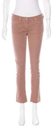 Etoile Isabel Marant Striped Mid-Rise Straight-Leg Jeans