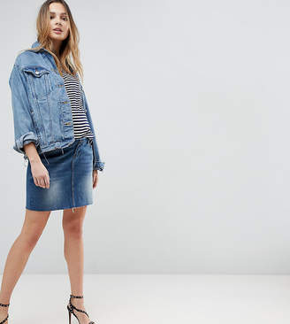 Bandia Maternity Over The Bump Denim Skirt With Removable Bump Band