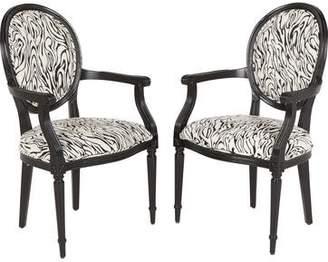 Pair of Zebra Print Armchairs