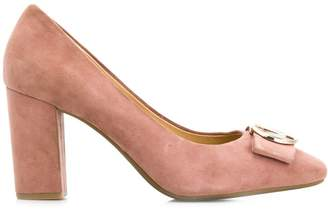 Michael Kors logo plaque pumps