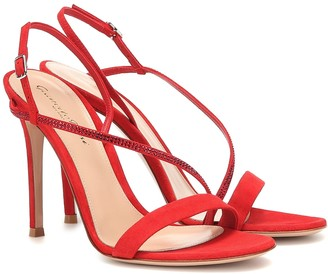 Gianvito Rossi Exclusive to Mytheresa Manhattan 105 suede sandals